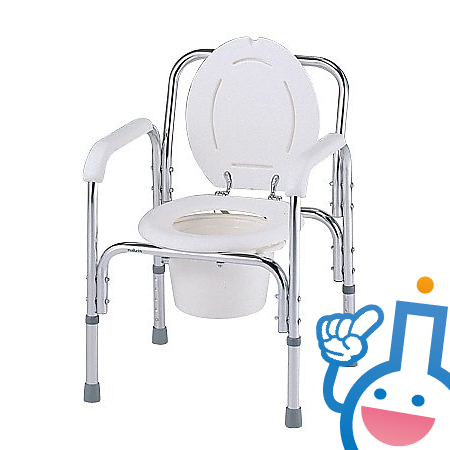 0-663-01 ナビス(アズワン) デラックスアルミ製便器椅子 8500