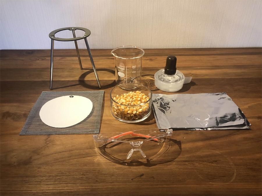 自宅でポップコーンを作るために用意するものはこちら