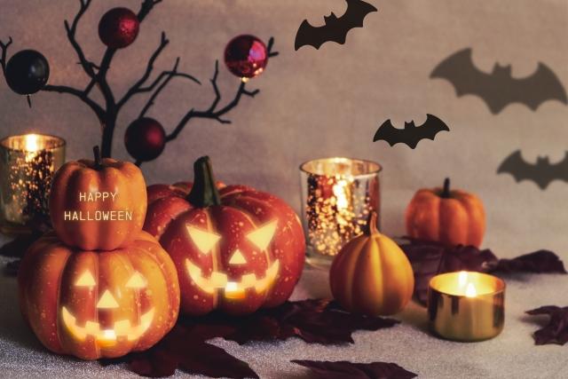ハロウィン飾りの王道・ジャックオーランタンことオレンジかぼちゃ