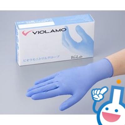 2-9016-02 ビオラモニトリルグローブ M