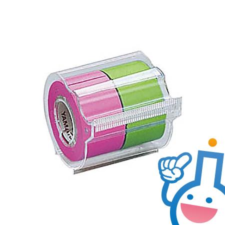 61-0590-41 ヤマト(文具)メモックロールテープローズ&ライム